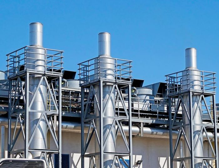 Industrial gas noise silencers